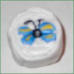 Cernit Sommerfuglcane trin 12: Fyld ud med hvid cernit, til du har en pølse