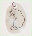 Krympeplast vedhæng - kat