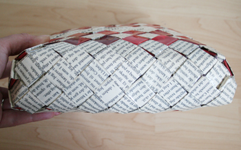 Flettet taske - bund