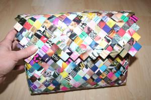 Flettet taske med flap