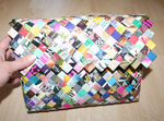 Flettet taske / candywrapper bag med flap