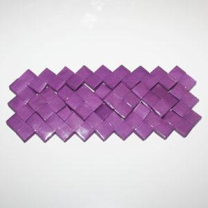 Flettet taskebund med firkanter og enkelt-tern