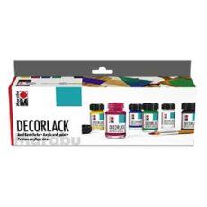 Decorlack grundsæt hobbymaling 6x15ml