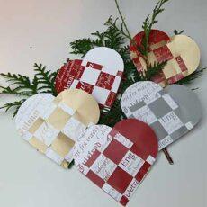 Flettede julehjerter 5 designs