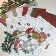 Flettede julehjerter pakke til 20 hjerter inkl. 24 skabeloner