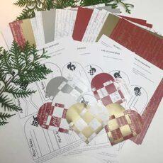 Flettede julehjerter - pakke til 40 flettede julehjerter
