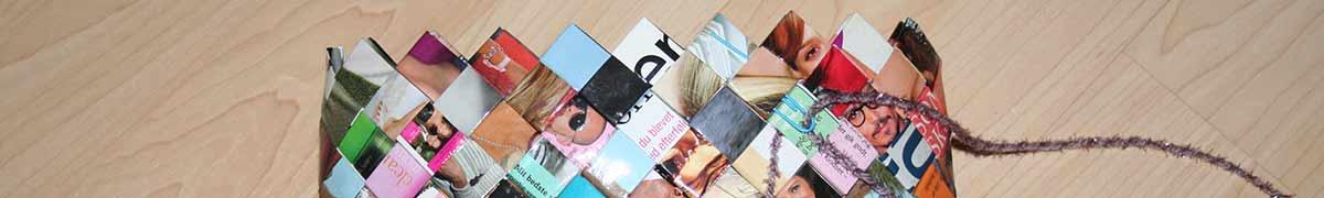 Header sy flettede tasker sammen - nål af papirklips