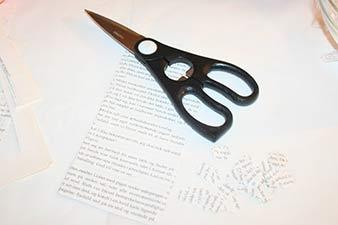 Julekugler med print trin 2: Klip papir ud