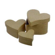 Papæsker buede hjerter 3 stk.