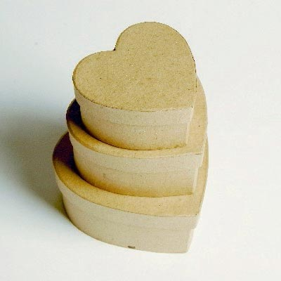 Papæsker hjerter 3 stk.