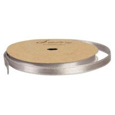 Satinbånd 6mm 10m grå/sølv