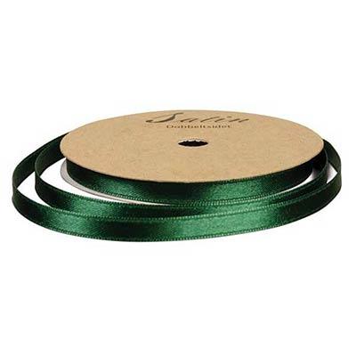 Satinbånd 6mm 10m mørkegrøn