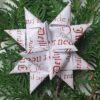 Stjernestrimler - hvid med rød skrift