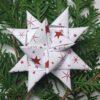 Stjernestrimler - hvid med røde stjerner