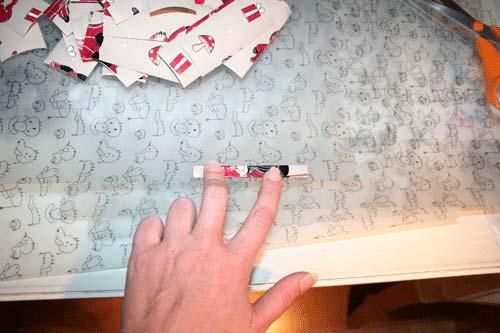 Flettede tasker - papiret foldes 4 gange