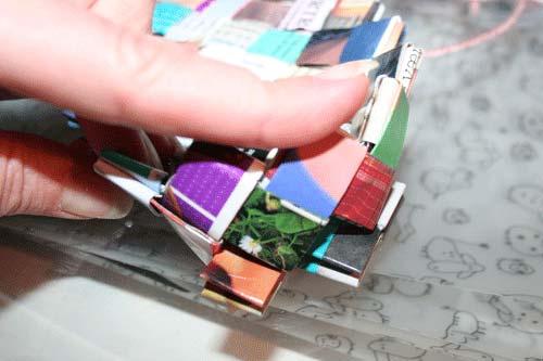 Flettet taske - 4 tern bred bund - sådan laver du hjørnerne