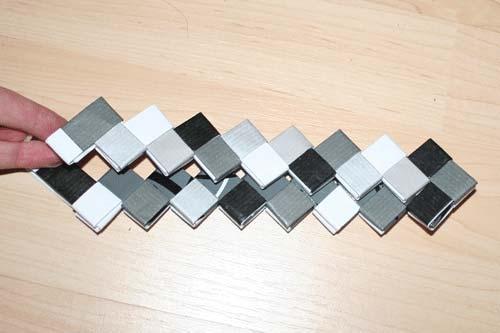 Flettede tasker - 7 tern bred bund som overlapper