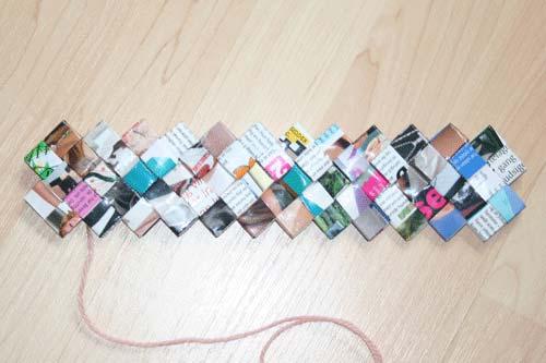 Flettede tasker - 5 tern bred bund