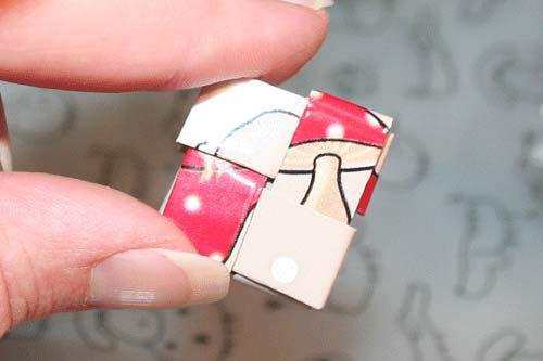 Flettede tasker - flet en firkant af fire stykker papir
