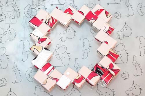 Flettede tasker - kvadratisk bund større ramme