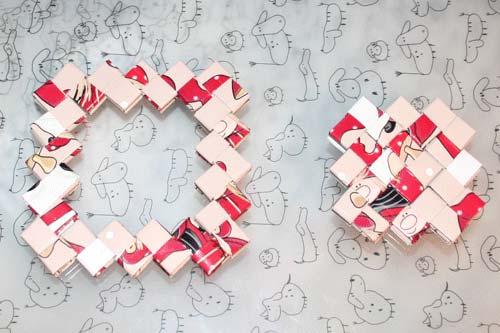 Flettede tasker - kvadratisk bund samlet af tre stykker