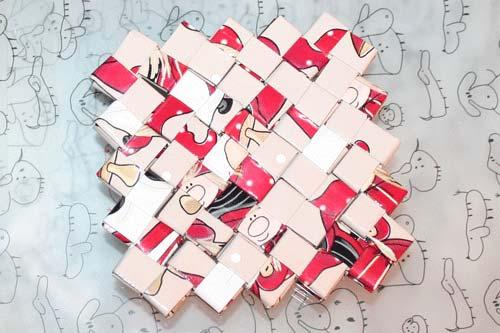 Flettede tasker - sådan fletter du en flad, kvadratisk bund