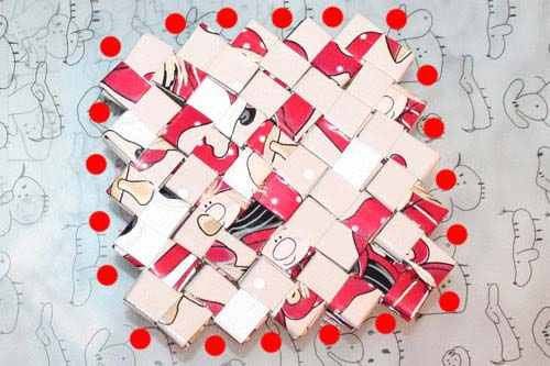 Flettede tasker - kvadratisk bund - tæl hakkerne