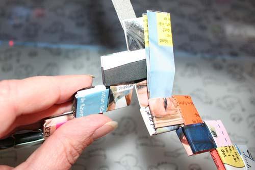 Flette tasker - samle ringen - sidste stykke sættes ind i første stykke