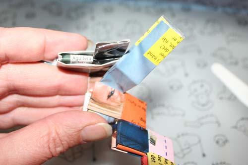 Flette tasker - samle ringen - sidste stykke flettes ind i første stykke