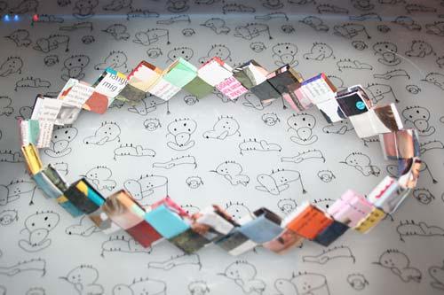 Flette tasker - ring til at flette candywrapper bags af