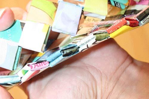 Flettede tasker - sy ringe på bunden