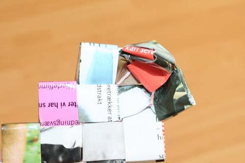 Flettede tasker - sy bunden sammen - sy hjørnet set indefra
