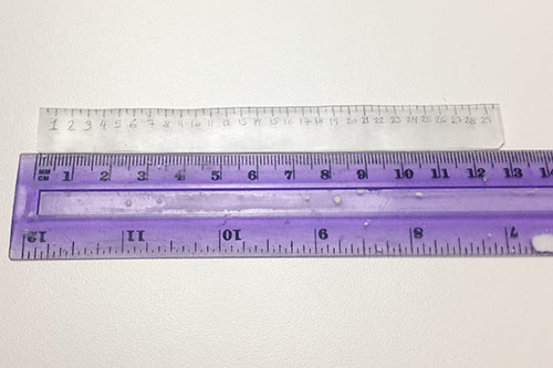 Krympeplast lineal - så meget krymper krympeplast