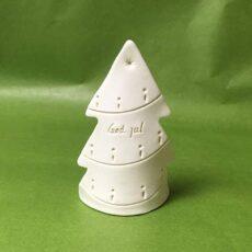 Julepynt - Porcelæns lysestage med juletræ