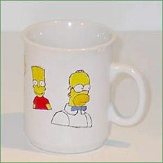 Porcelænsmaling - Simpsons på krus