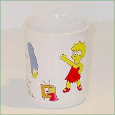 Porcelænsmaling - Krus med Simpsons