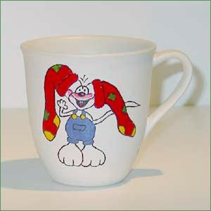 Porcelænsmaling - Diddle på krus